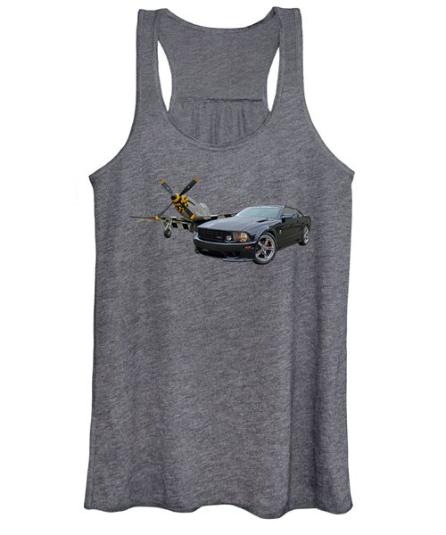 Mission Accomplished - P51 With Saleen Mustang Women's Tank Top