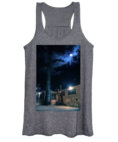 Moon Over Industrial Chicago Alley Women's Tank Top