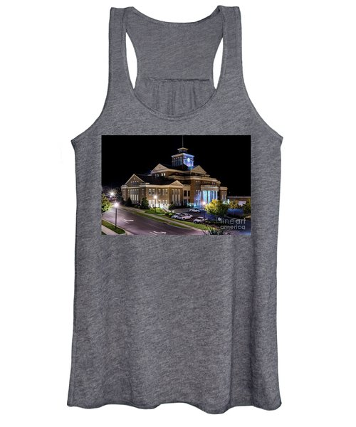 Municipal Center At Night - North Augusta Sc Women's Tank Top