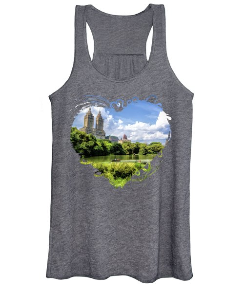 New York City Central Park Lake Rowboats Women's Tank Top