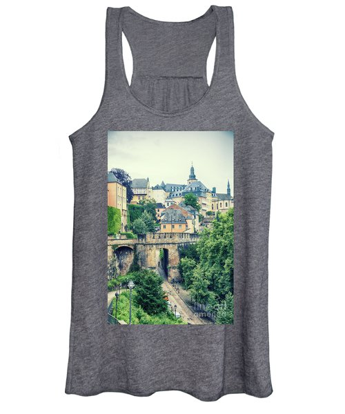 old city Luxembourg from above Women's Tank Top