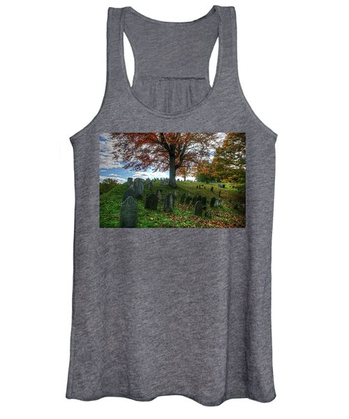 Old Hill Burying Ground In Autumn Women's Tank Top