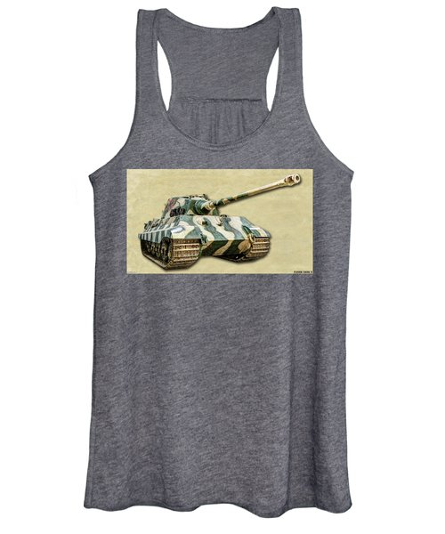 Panzer Vi Tiger II Canvas Women's Tank Top