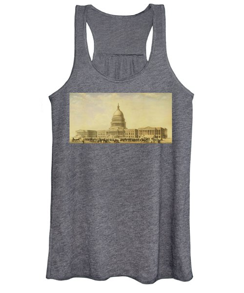 Perspective Rendering Of United States Capitol Women's Tank Top