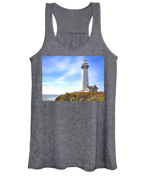 Pigeon Point Lighthouse Ca Women's Tank Top