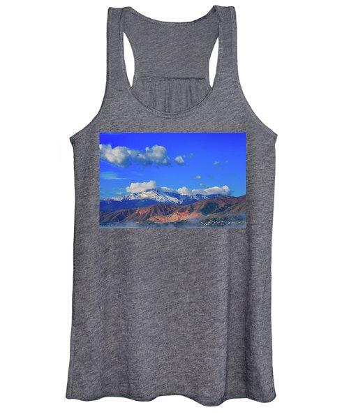 Pike's Peak Shines Above The Waldo Canyon Burn Scar 2 Women's Tank Top