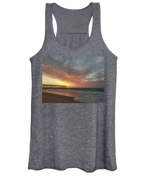 Pink Rippling Clouds At Sunrise Women's Tank Top