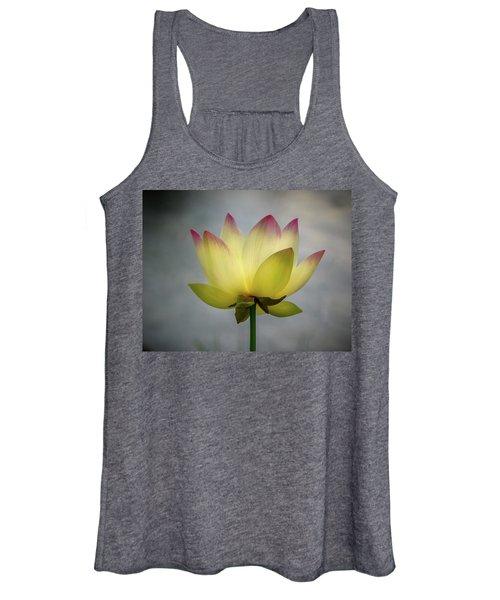 Pink Tipped Lotus Women's Tank Top