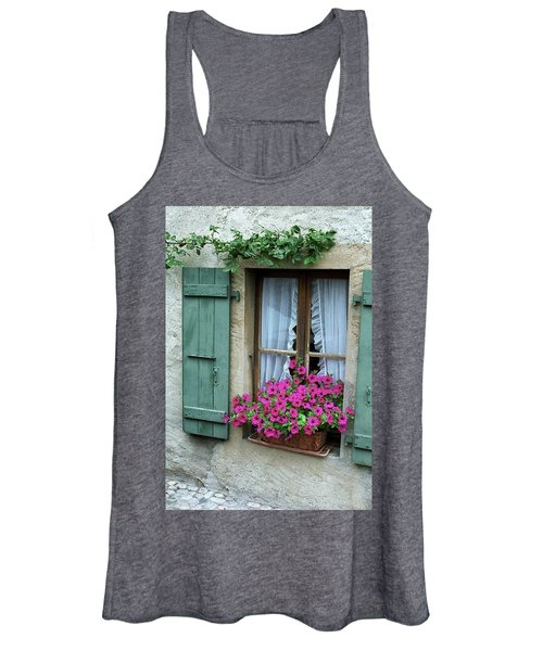Pink Window Box Women's Tank Top
