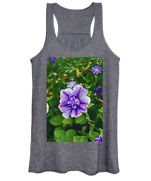 Pitlochry.  Purple Petunia. Women's Tank Top