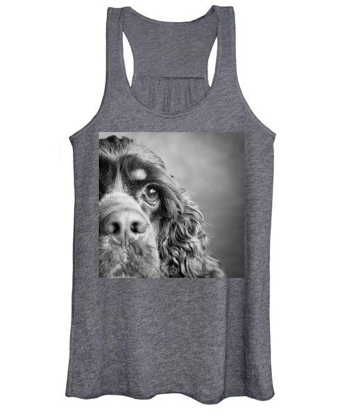 Portrait Of A Cocker Spaniel Dog Women's Tank Top