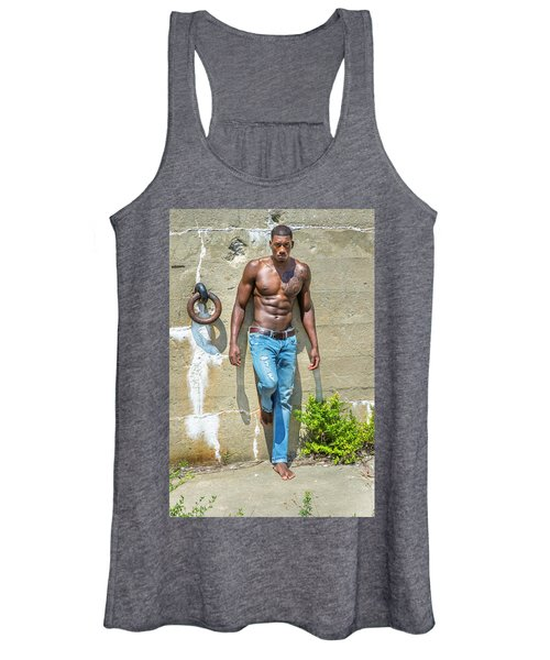 Portrait Of  Young Black Fitness Guy Women's Tank Top