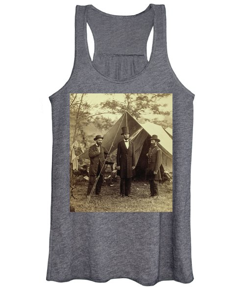 President Lincoln, United States Headquarters, Army Of The Potomac, Near Antietam Women's Tank Top