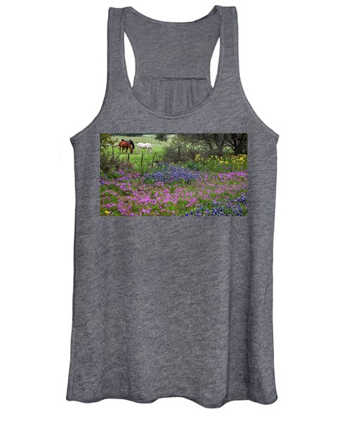 Bluebonnets And Pure Texas  Women's Tank Top