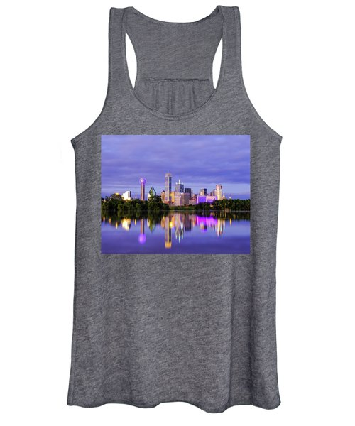 Purple Rain City Of Dallas Texas Women's Tank Top