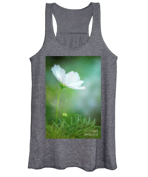 Radiant White Cosmos In The Evening Light Women's Tank Top