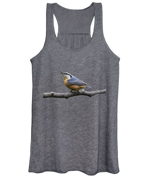 Red-breasted Nuthatch Looking Up Women's Tank Top