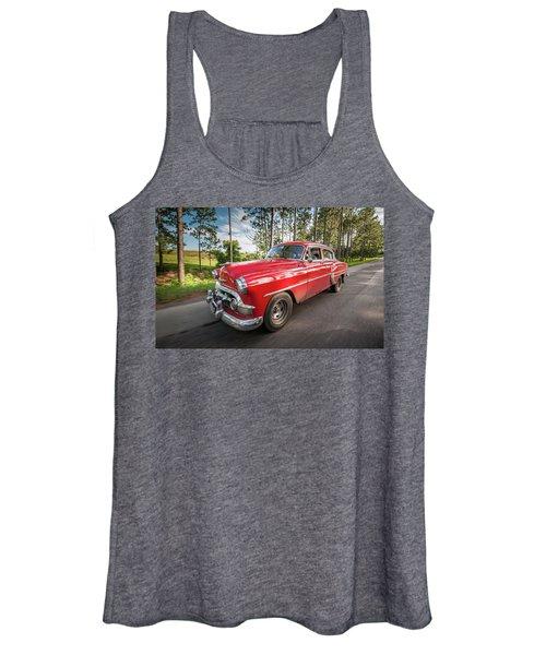 Red Classic Cuban Car Women's Tank Top