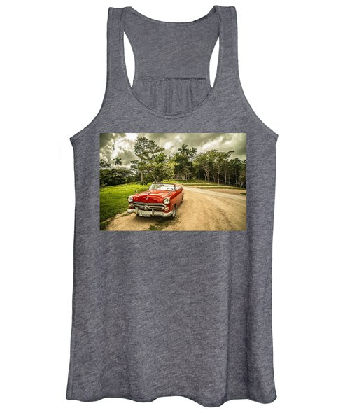 Red Vintage Car Women's Tank Top