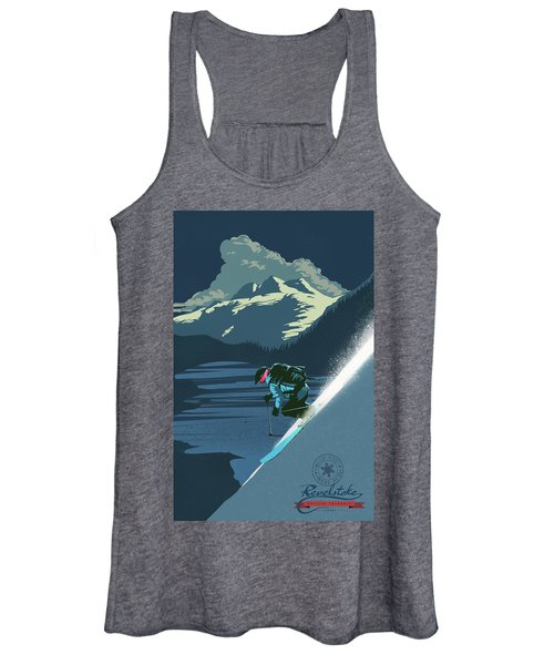 Retro Revelstoke Ski Poster Women's Tank Top