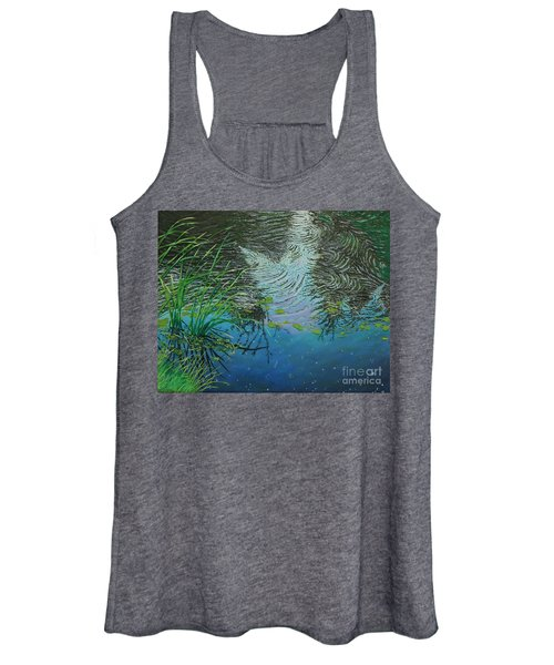 River ...ripples And Reeds Women's Tank Top