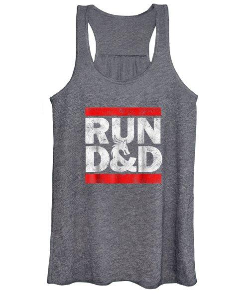 Run Dnd Dungeon Game Tabletop Rpg Shirt Women's Tank Top