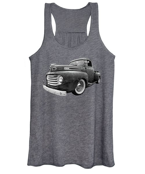 Rusty Jewel In Black And White - 1948 Ford Women's Tank Top