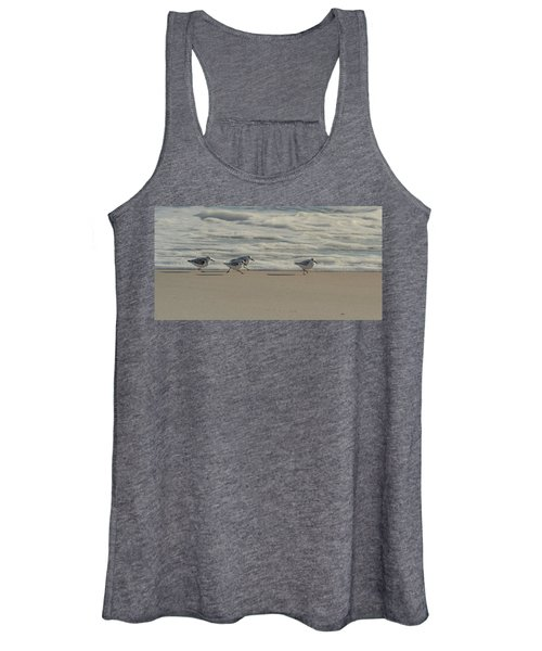 Sanderlings At Assateague Island National Seashore I 1x2 Women's Tank Top
