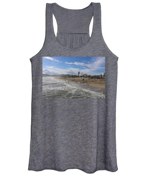 Santa Monica Beach , Santa Monica, California Women's Tank Top