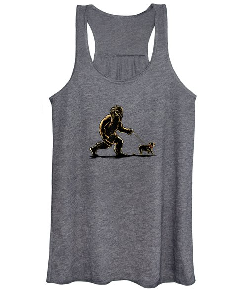 Sasquatch Walking French Bulldog T-shirt Frenchie Lovers Women's Tank Top