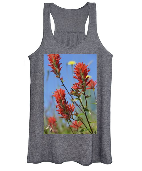 Scarlet Indian Paintbrush At Mount St. Helens National Volcanic  Women's Tank Top