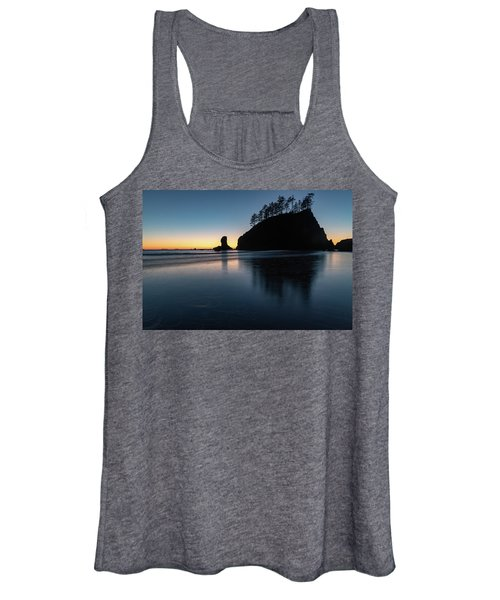 Sea Stack Silhouette Women's Tank Top