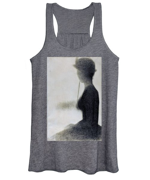 Seated Woman With A Parasol - Digital Remastered Edition Women's Tank Top