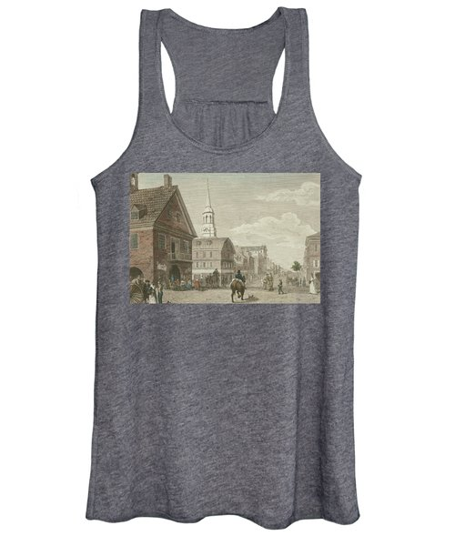 Second Street North From Market St. And Christ Church Women's Tank Top