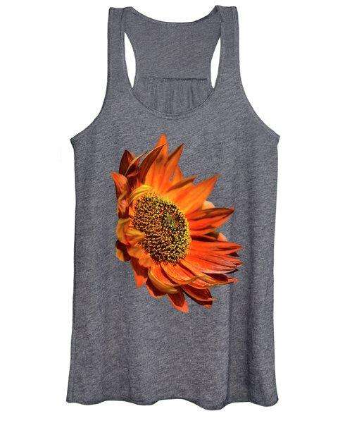 Selective Color Sunflower Women's Tank Top
