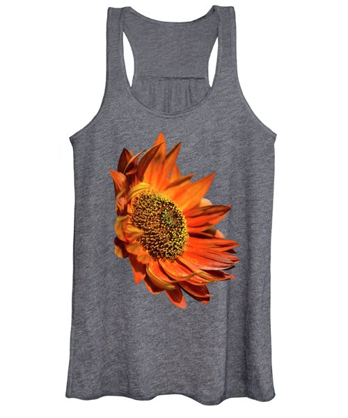 Selective Color Sunflower Women's Tank Top