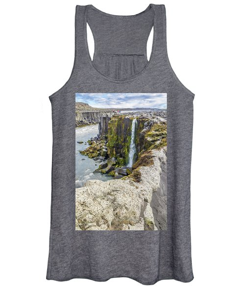 Women's Tank Top featuring the photograph Selfoss Waterfall - Iceland by Marla Craven