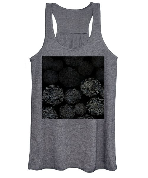 Shibori Sea Urchin Burst Pattern Women's Tank Top