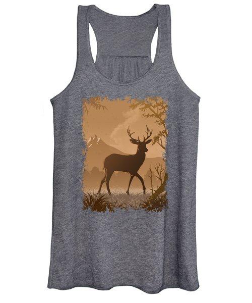 Silhouette Deer Women's Tank Top