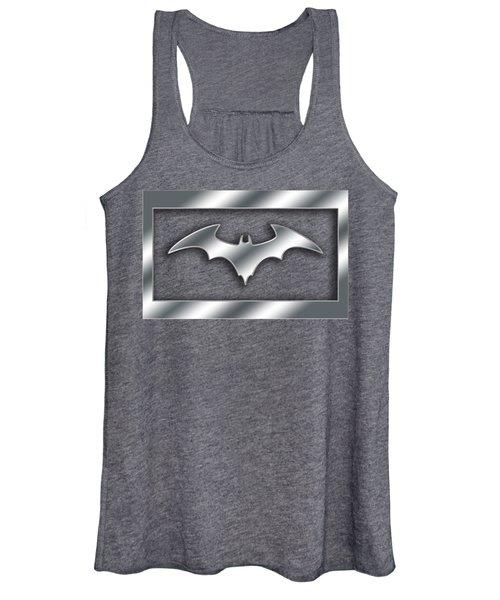 Silver Bat Transparent Women's Tank Top