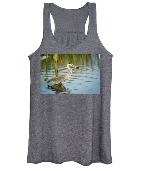 Snack Time For Blue Heron Women's Tank Top