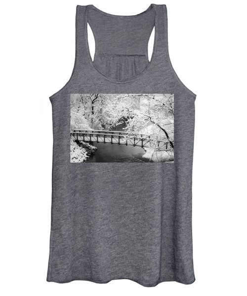 Snowy Bridge On Mill Creek Women's Tank Top