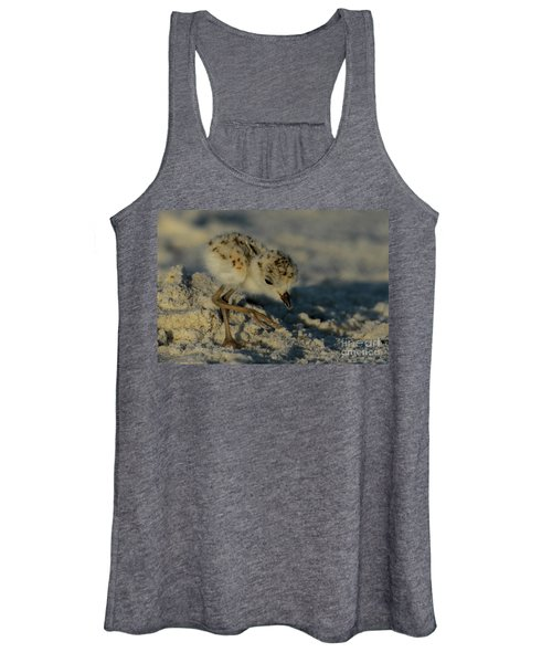 Snowy Plover On The Hunt Women's Tank Top