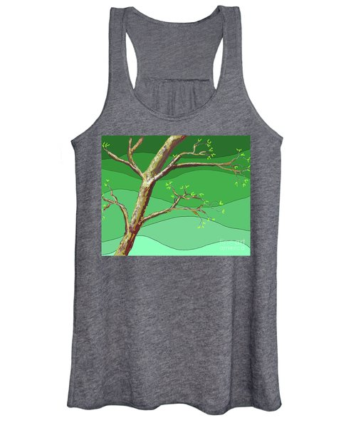 Spring Errupts In Green Women's Tank Top