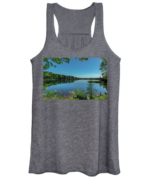 Spring Morning On Grand Sable Lake Women's Tank Top
