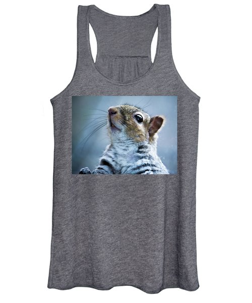Squirrel With Nose In The Air Women's Tank Top