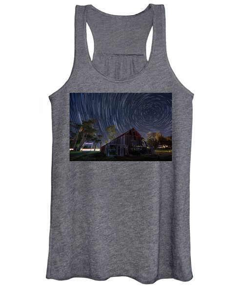 Star Trails Over Bonetti Ranch Women's Tank Top
