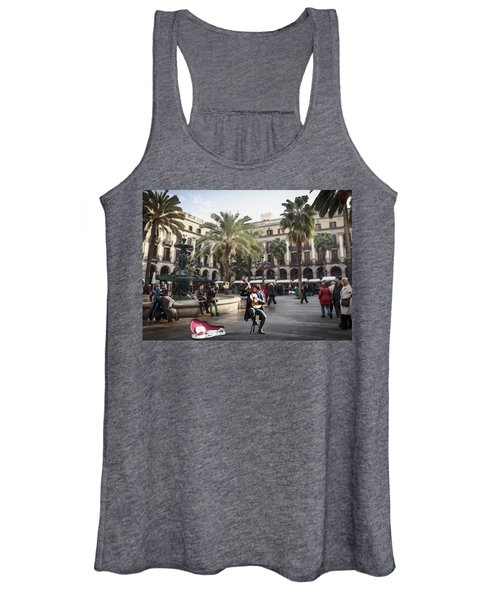 Street Music. Guitar. Barcelona, Plaza Real. Women's Tank Top