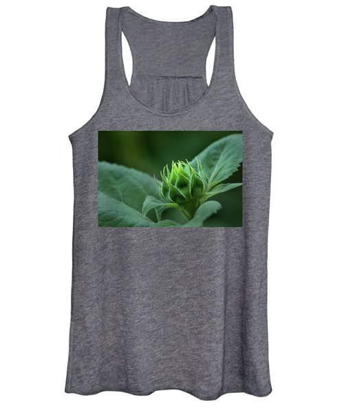 Sunflower Bud Women's Tank Top