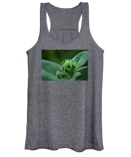 Sunflower Bud Women's Tank Top